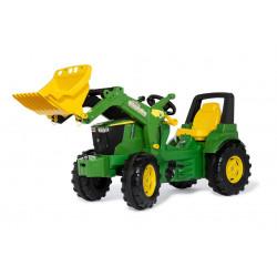 TRACTEUR A PEDALES JOHN DEERE FarmTrac 7310R + pelle 710300 ROLLY TOYS