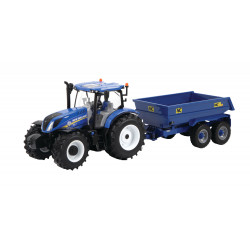 NEW HOLLAND T6.175 + Remorque TP NC 43268 BRITAINS 1/32