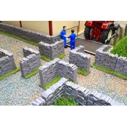 4 angles de mur de pierre BT3007 BRUSHWOOD 1/32