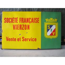 Plaque émaillée 120 x75 cm Société Francaise Vierzon