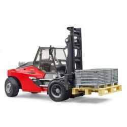 Chariot élévateur miniature LINDE HT160 + Accessoires BRUDER 2513