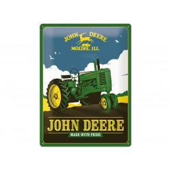 Plaque en métal 30x40 JOHN DEERE Made with Pride 23275