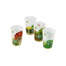 4 Gobelets en plastique JOHN DEERE MCV201420001