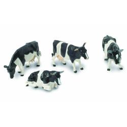4 Vaches Holstein 40961 BRITAINS 1/32