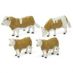 3 Vaches + 1 taureau Simmental 42351 BRITAINS 1/32