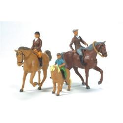 3 chevaux + cavaliers 40956 BRITAINS 1/32