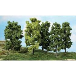5 arbres à feuille 18cm K1990 HEKI 1/32