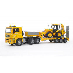 camion MAN miniature et son tractopelle JCB BRUDER miniature