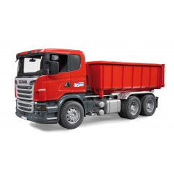 Camion porte container rouge SCANIA R-serie BRUDER 3522